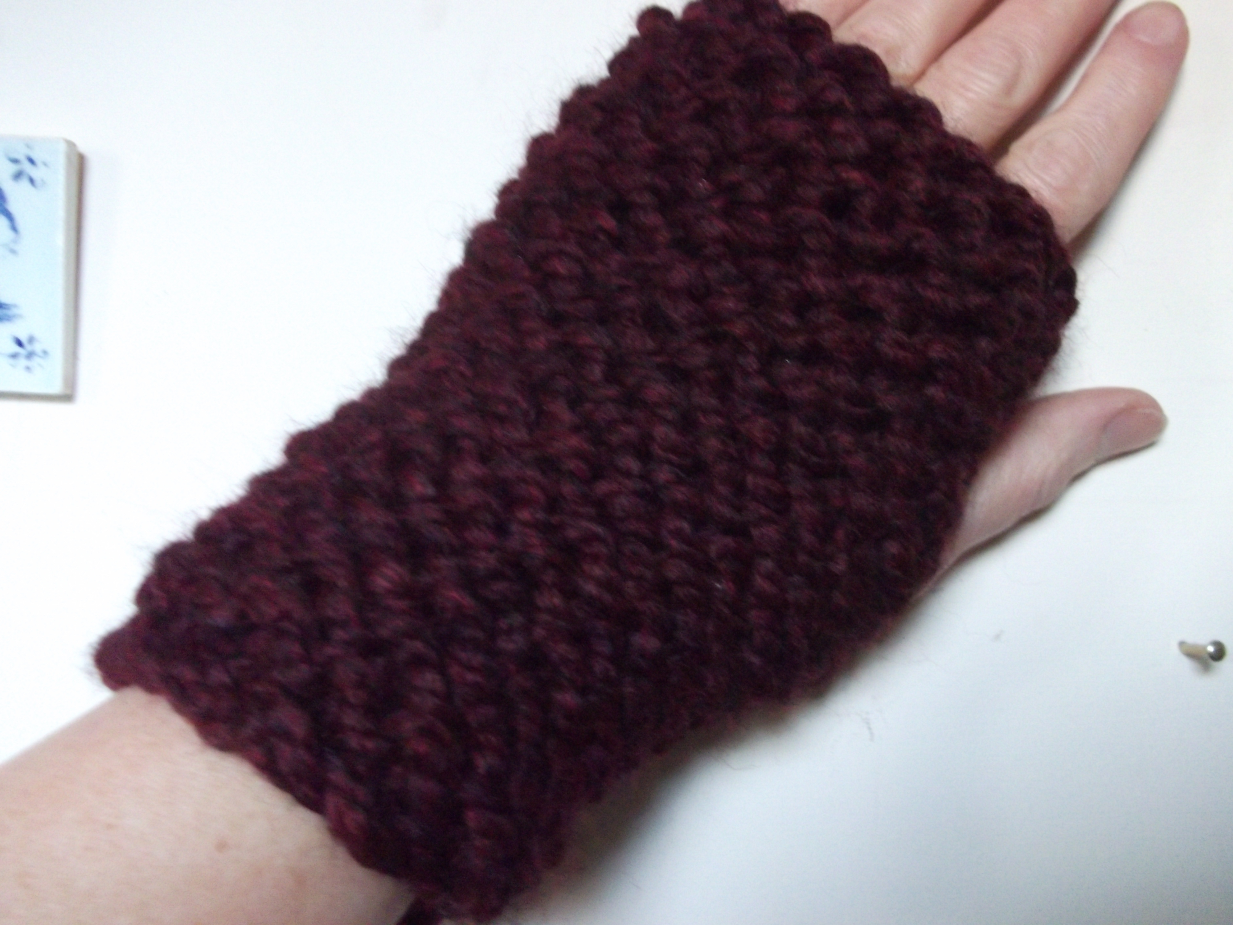 Quick-to-Knit Headband and Fingerless Mitts | Something for (almost ...
