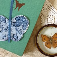 Silk Butterfly Bookmarks