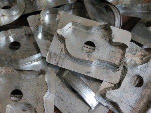 Old tin cookie cutters.