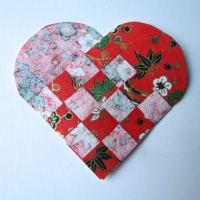 Danish Woven Hearts with a Japanese Twist