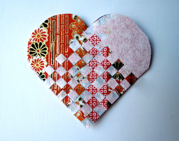 Woven Heart Basket Craft : Danish woven hearts with a japanese twist something for