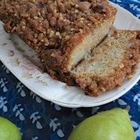 Cinnamon Pear Tea Bread