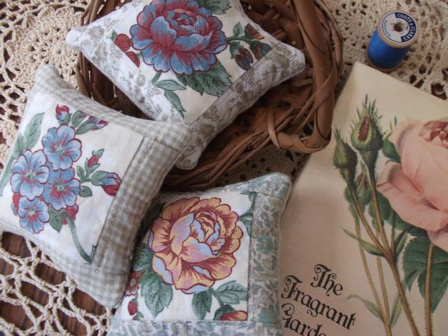 Floral pincushions