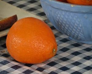 A minneola tangerine