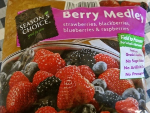 This is the type of frozen berry medley I used--I removed the strawberries.
