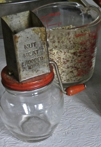 antique nut grinder