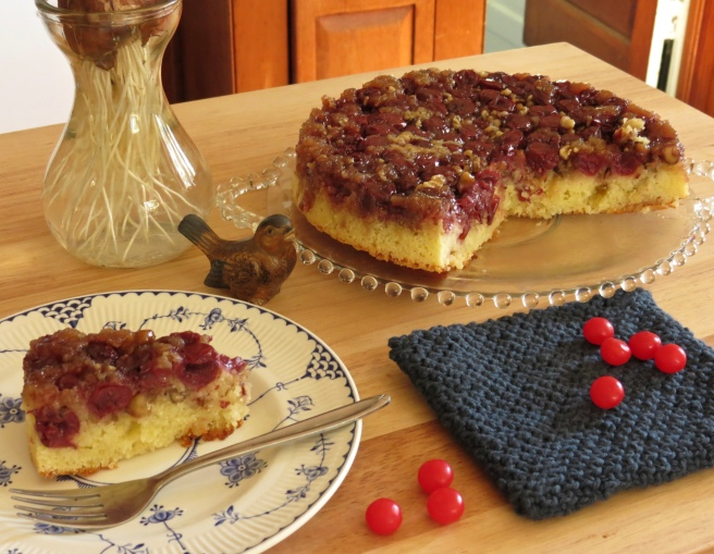 cake shown with some sour cherry candies